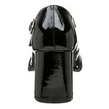 Zwart Lak 8 cm GOGO-50 Pumps Hoge Hakken voor Mannen