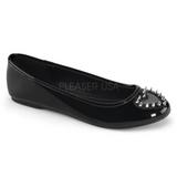 Zwart Lak STAR-24 gothic ballerina platte schoenen