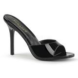 Zwart Lakleer 10 cm CLASSIQUE-01 grote maten mules schoenen