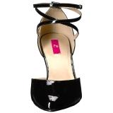 Zwart Lakleer 10 cm DREAM-408 grote maten pumps schoenen