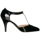 Zwart Lakleer 10 cm DREAM-425 grote maten pumps schoenen