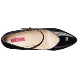 Zwart Lakleer 10 cm DREAM-428 grote maten pumps schoenen