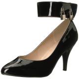 Zwart Lakleer 10 cm DREAM-432 grote maten pumps schoenen