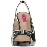 Zwart Lakleer 11,5 cm PINUP-10 grote maten sandalen dames