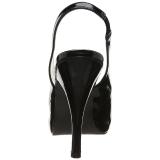 Zwart Lakleer 12,5 cm EVE-04 grote maten sandalen dames