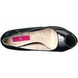 Zwart Lakleer 13,5 cm CHLOE-01 grote maten pumps schoenen