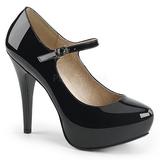 Zwart Lakleer 13,5 cm CHLOE-02 grote maten pumps schoenen