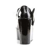 Zwart Lakleer 13 cm POISON-02 Sleehak Pumps Plateau