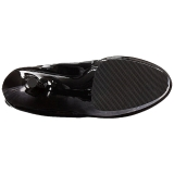 Zwart Lakleer 18 cm ADORE-3050 overknee laarzen met hoge hakken