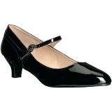 Zwart Lakleer 5 cm FAB-425 grote maten pumps schoenen