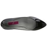 Zwart Lakleer 6,5 cm KITTEN-01 grote maten pumps schoenen