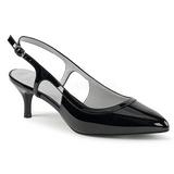 Zwart Lakleer 6 cm KITTEN-02 grote maten pumps schoenen
