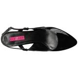 Zwart Lakleer 7,5 cm DIVINE-418 grote maten pumps schoenen