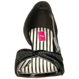 Zwart Lakleer 7,5 cm JENNA-03 grote maten pumps schoenen