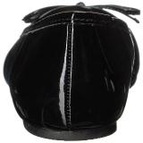 Zwart Lakleer ANNA-01 grote maten ballerina´s schoenen