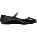 Zwart Lakleer ANNA-02 grote maten ballerina´s schoenen