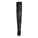 Zwart Leder 13 cm LEGEND-8899 Overknee Laarzen voor Heren