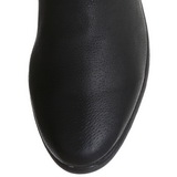 Zwart Leder 4 cm MAVERICK-8824 Overknee Laarzen voor Heren