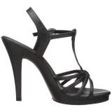 Zwart Mat 12 cm FLAIR-420 Dames Sandalen met Hak