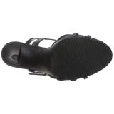 Zwart Mat 12 cm FLAIR-420 Hoge Hakken voor Mannen