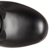 Zwart Mat 12 cm SLUSH-225 Gothic Laarzen Dames