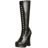 Zwart Mat 13 cm ELECTRA-2020 Dameslaarzen met hak voor Heren