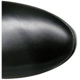 Zwart Mat 13 cm ELECTRA-3050 Over de Knielaarzen Hoge Hak