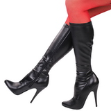 Zwart Mat 13 cm SEDUCE-2000 Dameslaarzen met hak voor Heren