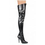 Zwart Mat 13 cm SEDUCE-3000 overknee laarzen met hakken