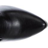 Zwart Mat 13 cm SEDUCE-3050 Lange Overknee Laarzen met Hak