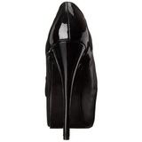 Zwart Mat 14,5 cm Burlesque TEEZE-20 damesschoenen met hoge hak