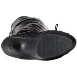 Zwart Mat 15 cm DELIGHT-3025 overknee laarzen met plateauzool