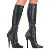 Zwart Mat 15 cm DOMINA-2000 Dames laarzen met stiletto hakken