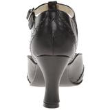 Zwart Mat 7,5 cm FLAPPER-26 Dames Pumps Schoenen Plat