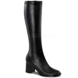 Zwart Mat 8,5 cm GOGO-300 Dameslaarzen met hak voor Heren