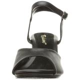 Zwart Mat 8 cm BELLE-309 Dames Sandalen met Hak