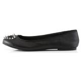 Zwart Mat STAR-24 gothic ballerina platte schoenen