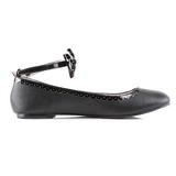 Zwart Mat STAR-27 gothic ballerina platte schoenen