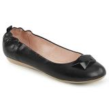 Zwart OLIVE-08 ballerinas platte damesschoenen