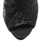 Zwart Pailletten 15,5 cm BLONDIE-R-1008 Hoge Enkellaarzen