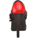 Zwart Rood 11,5 cm rockabilly TEMPT-10 damesschoenen met hoge hak