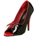 Zwart Rood 12,5 cm SEDUCE-216 damesschoenen met hoge hak