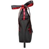 Zwart Rood 14,5 cm TEEZE-13 damesschoenen met hoge hak