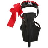 Zwart Rood Lak 15 cm DELIGHT-615 Stiletto Schoenen Naaldhakken