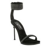 Zwart Strass 12 cm CHIC-40 Schoenen met Stiletto Hakken