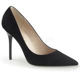 Zwart Suede 10 cm CLASSIQUE-20 grote maten stilettos schoenen