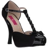Zwart Suede 11,5 cm PINUP-02 grote maten pumps schoenen