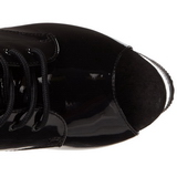 Zwart Transparant 18 cm ADORE-1021 dames enkellaarsjes met plateauzool
