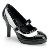 Zwart Wit 10,5 cm CONTESSA-06 damesschoenen met hoge hak