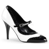 Zwart Wit 10,5 cm VANITY-442 Dames pumps met lage hak